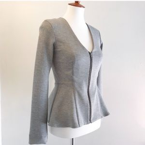 Topshop Nicola zip up top or jacket size 4